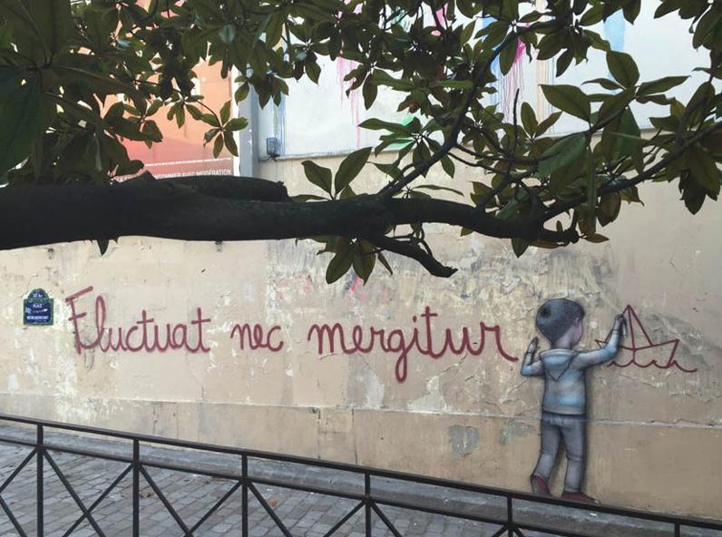 Fluctuat nec mergitur », par Seth - Le street art envahit les rues ...