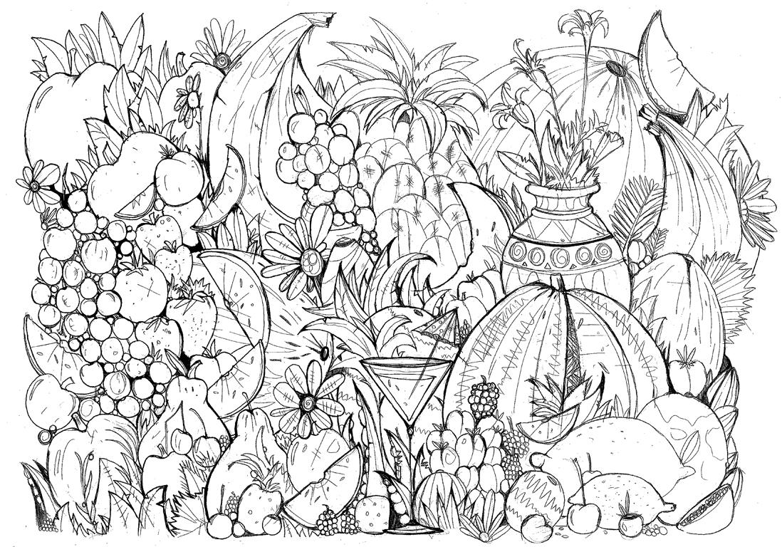 #MonColoriageELLE : la salade de fruits - Elle