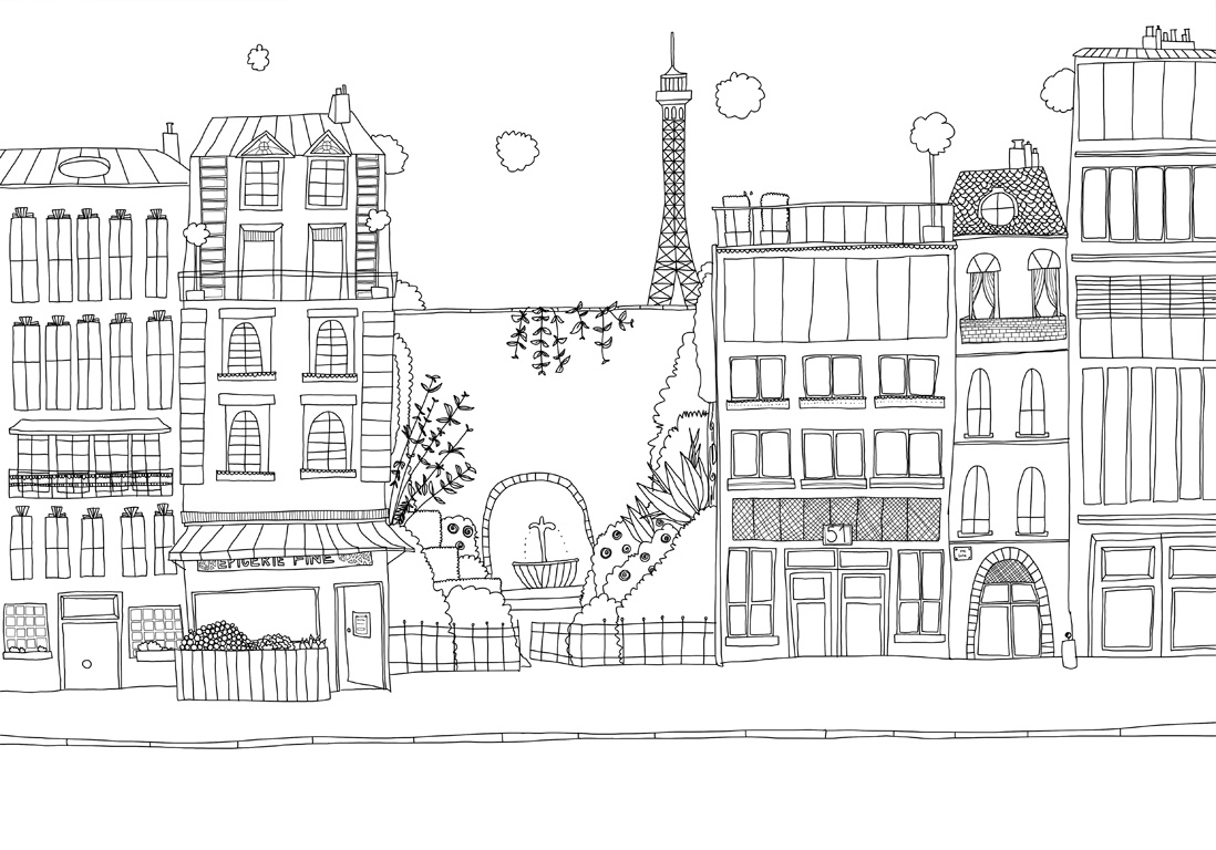 #MonColoriageELLE : Paris Mon Amour