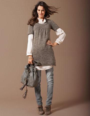 la robe pull enceinte on porte les must have de l hiver elle. Black Bedroom Furniture Sets. Home Design Ideas