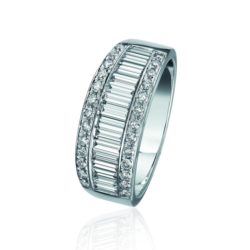 Alliance originale en or blanc et diamants Histoire d'Or - Mariage ...