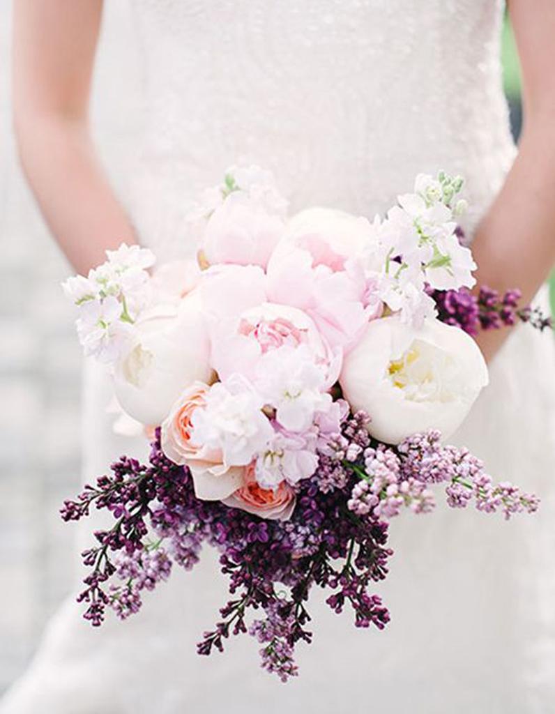 bouquet de marié rose