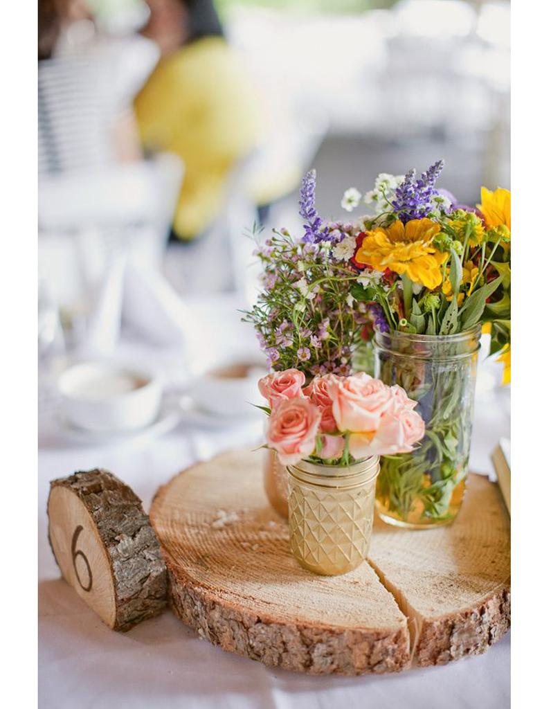 decoration mariage rondin de bois