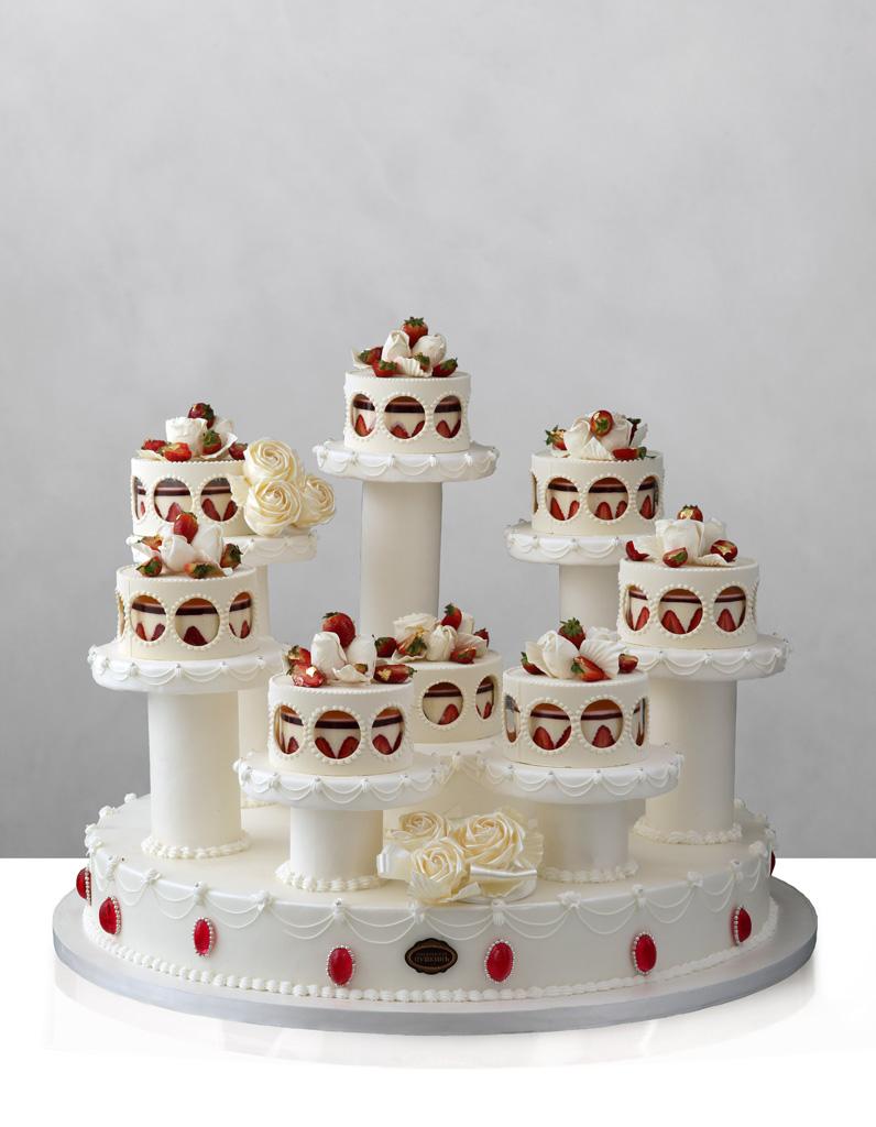 Gateau de mariage fraisier