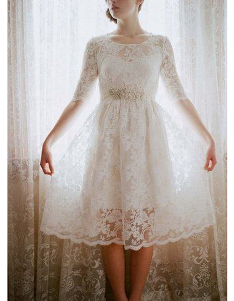 Robe de mariee courte vintage