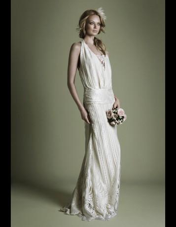 Robe en cr pe style ann es 20 the vintage wedding dress for Noms de style de robe de mariage