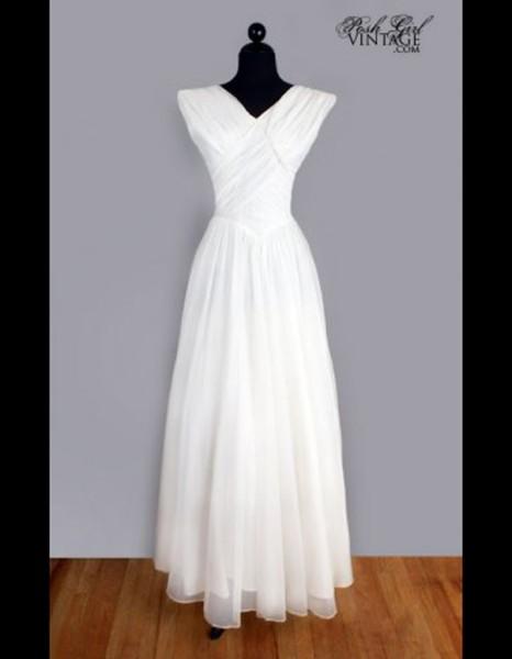 robe en mousseline de soie ann es 50 posh girl vintage 50 robes de mari e qui changent elle. Black Bedroom Furniture Sets. Home Design Ideas