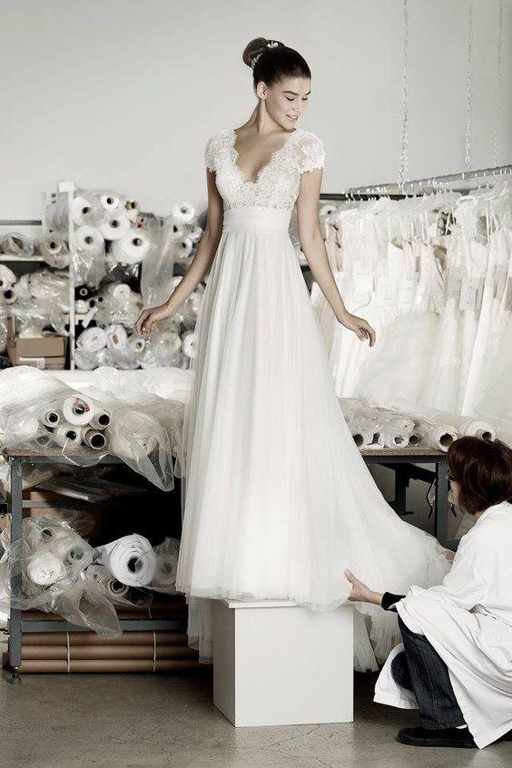 Robe de mariée dentelle décolleté - 30 robes