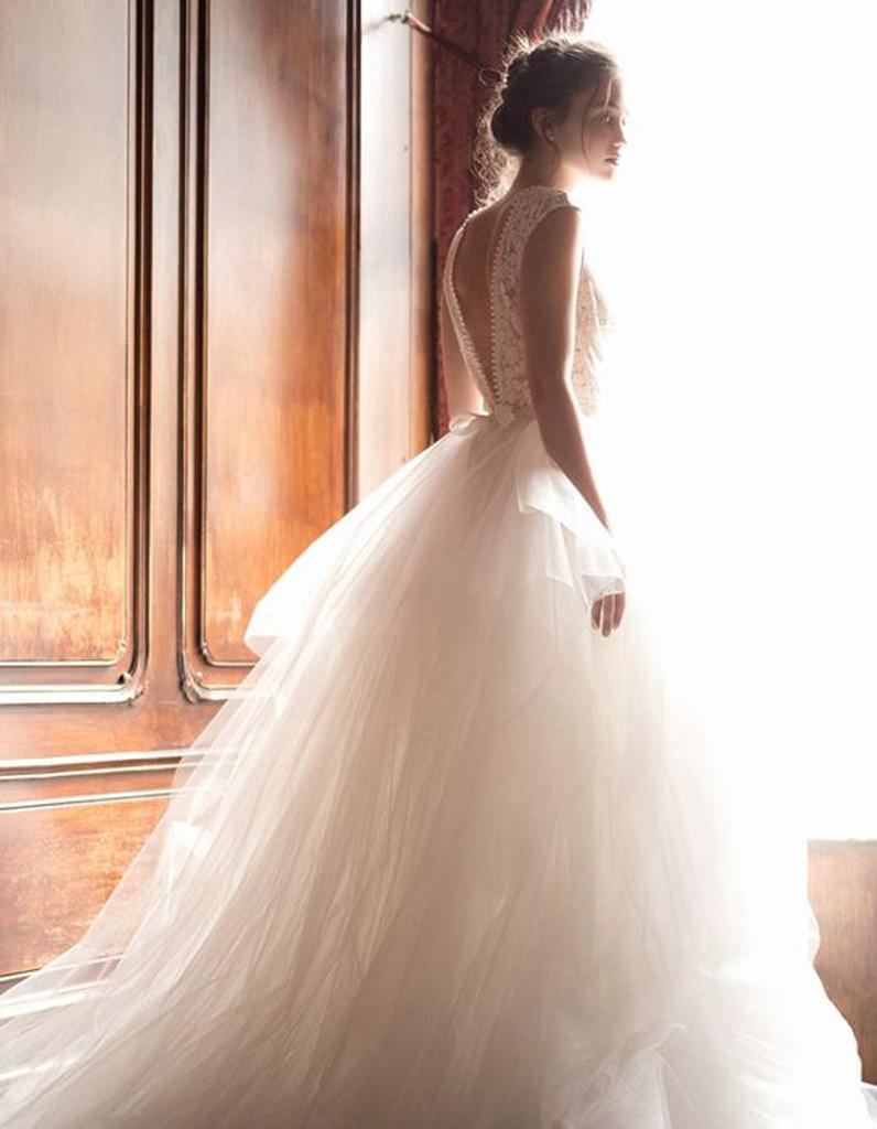 Robe de mariee princesse fluide
