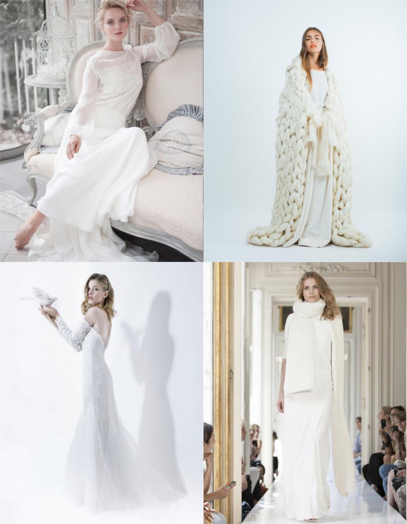 b8b057ef4e001 Robe de mariée hiver   notre sélection des plus belles robes pour un mariage  en hiver - Elle