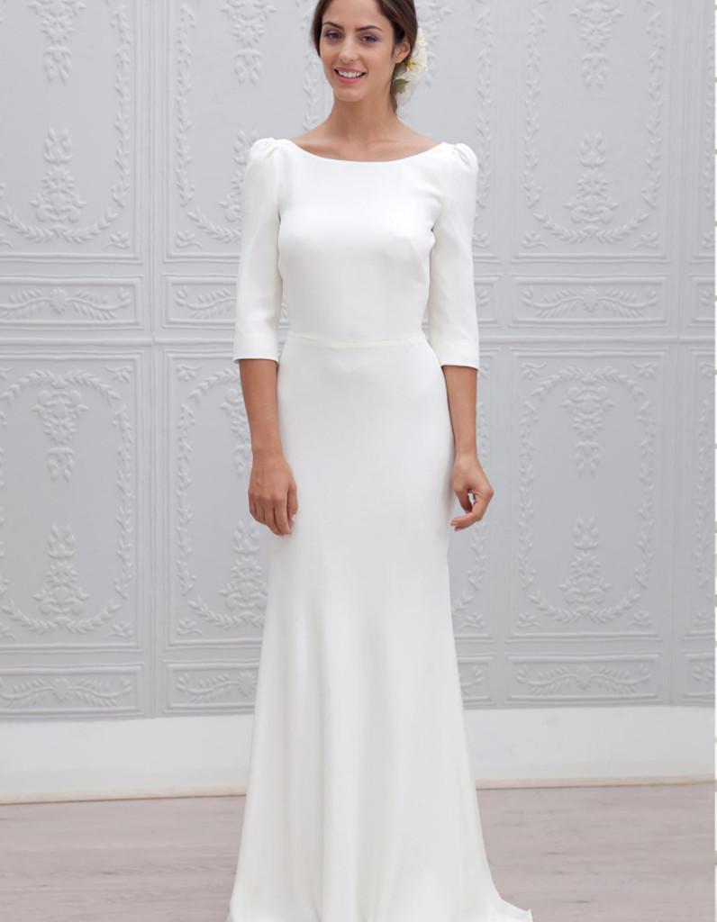 Robe mariage civil courte hiver