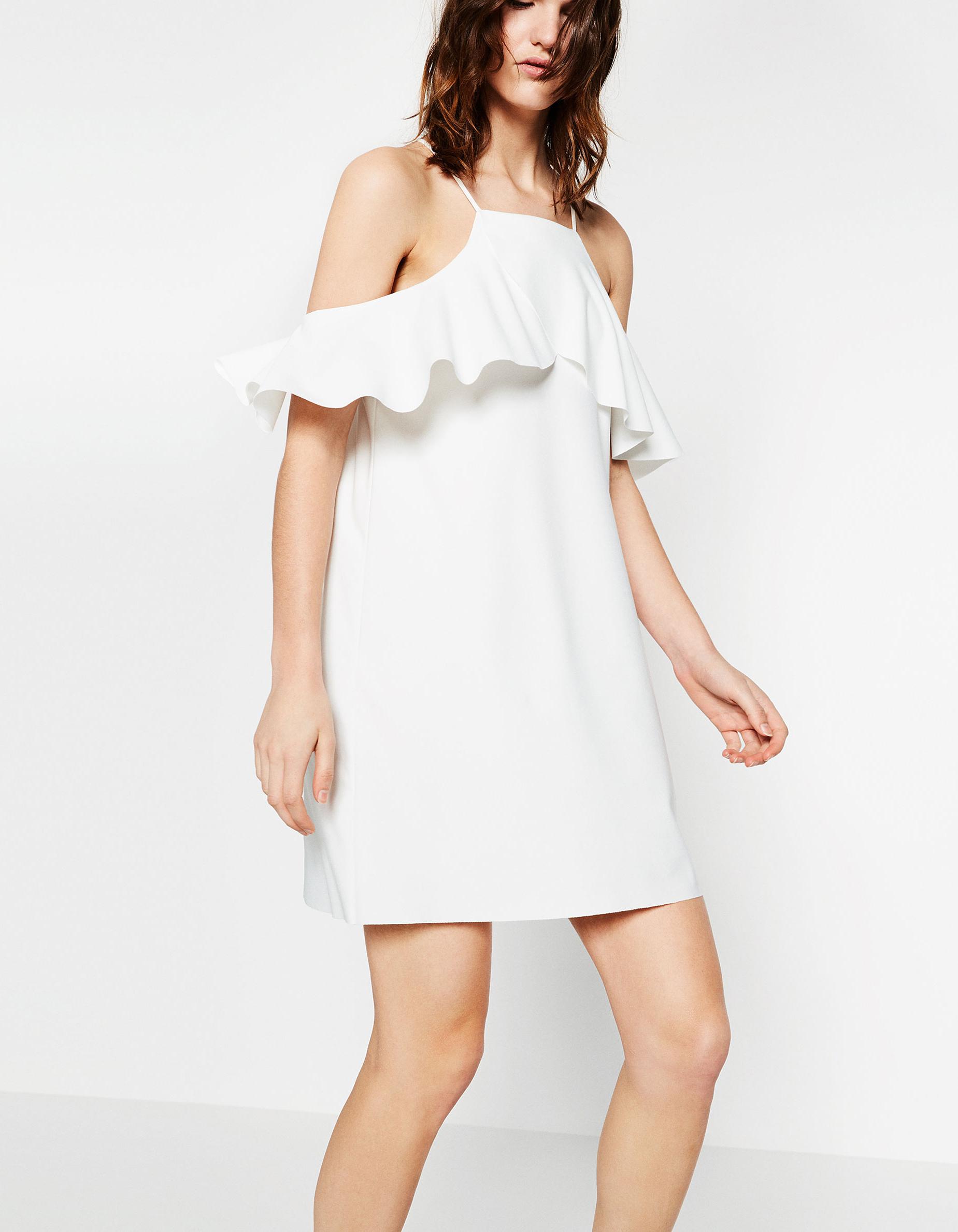 Robe de mariée courte à volants Zara , Les plus belles robes de mariée  courtes , Elle