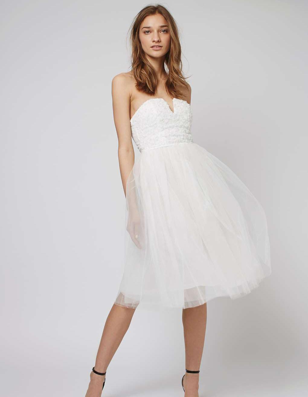 Robe de mariée courte en tulle Topshop , Les plus belles robes de mariée  courtes , Elle