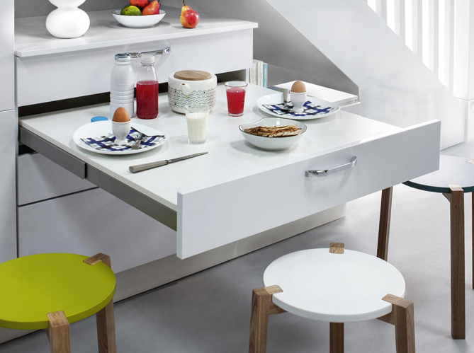 meuble cuisine avec table escamotable – table basse