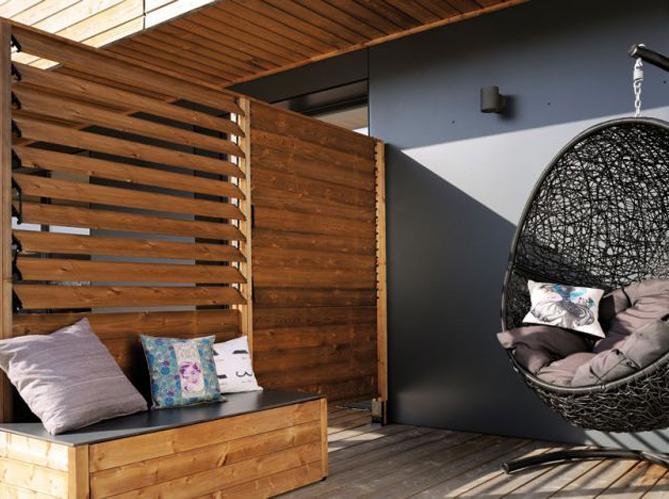 5 fa ons de se cacher des voisins dans son jardin elle d coration. Black Bedroom Furniture Sets. Home Design Ideas