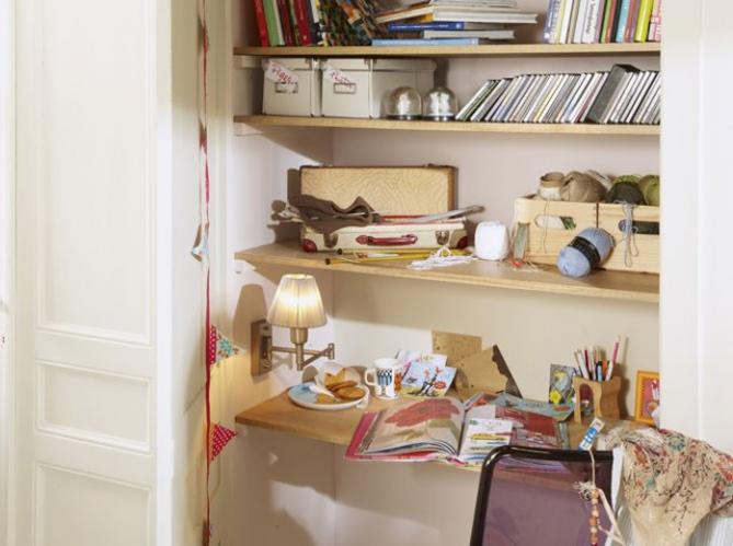 Bureaux 5 id es astucieuses pour gagner de la place for Bureau pour petit espace