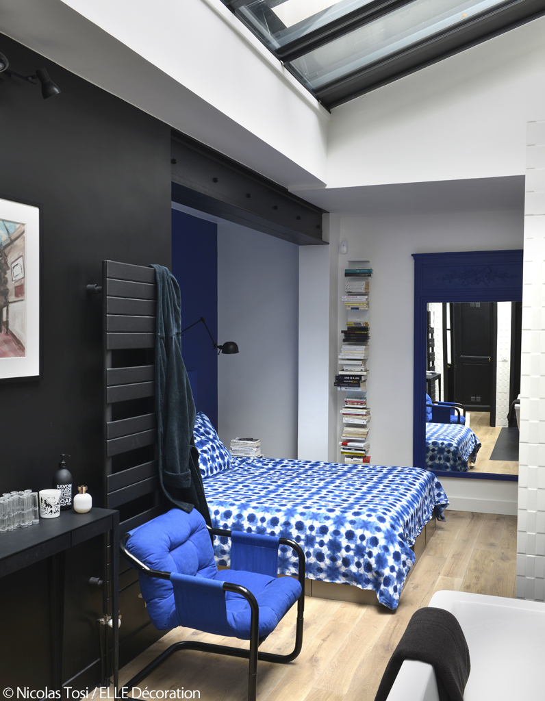 d coration bleue un atelier parisien la d coration bleue elle d coration. Black Bedroom Furniture Sets. Home Design Ideas