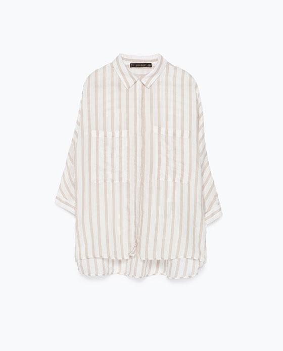 Chemise femme rayée Zara