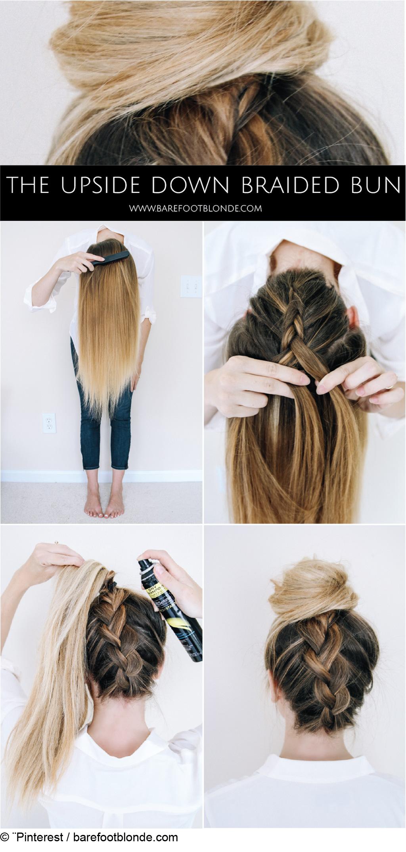 Chignon facile pour cheveux longs