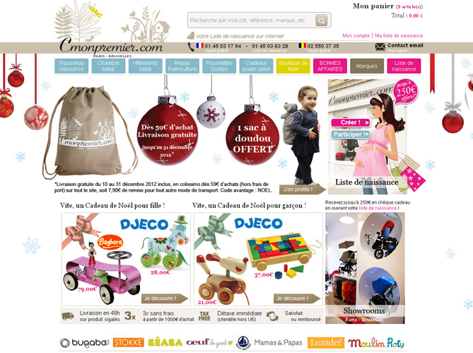 Cmonpremier.com une boutique en ligne 100 puericulture image