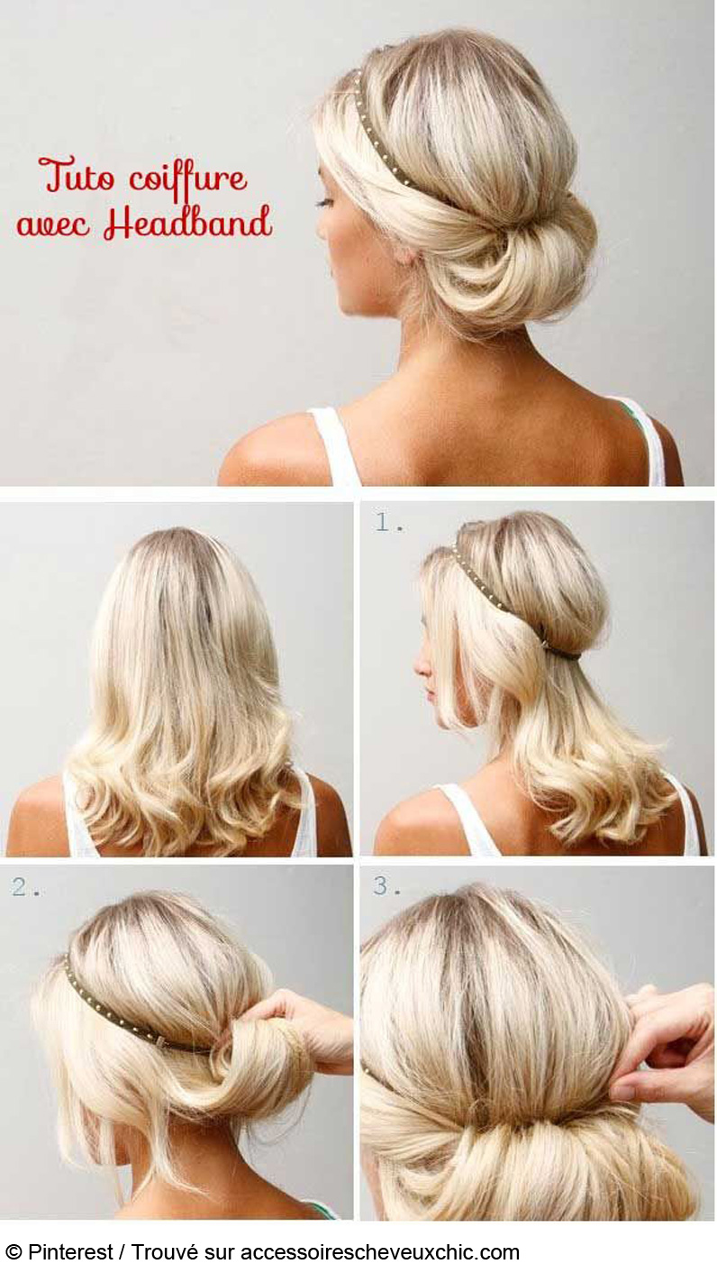 Remarquable coiffure204: coiffure facile pour mariage RG-02