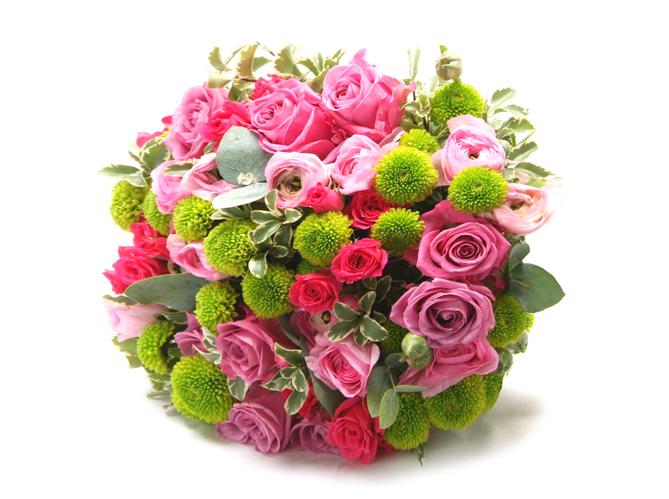 Comment realiser un bouquet de fleurs rond image