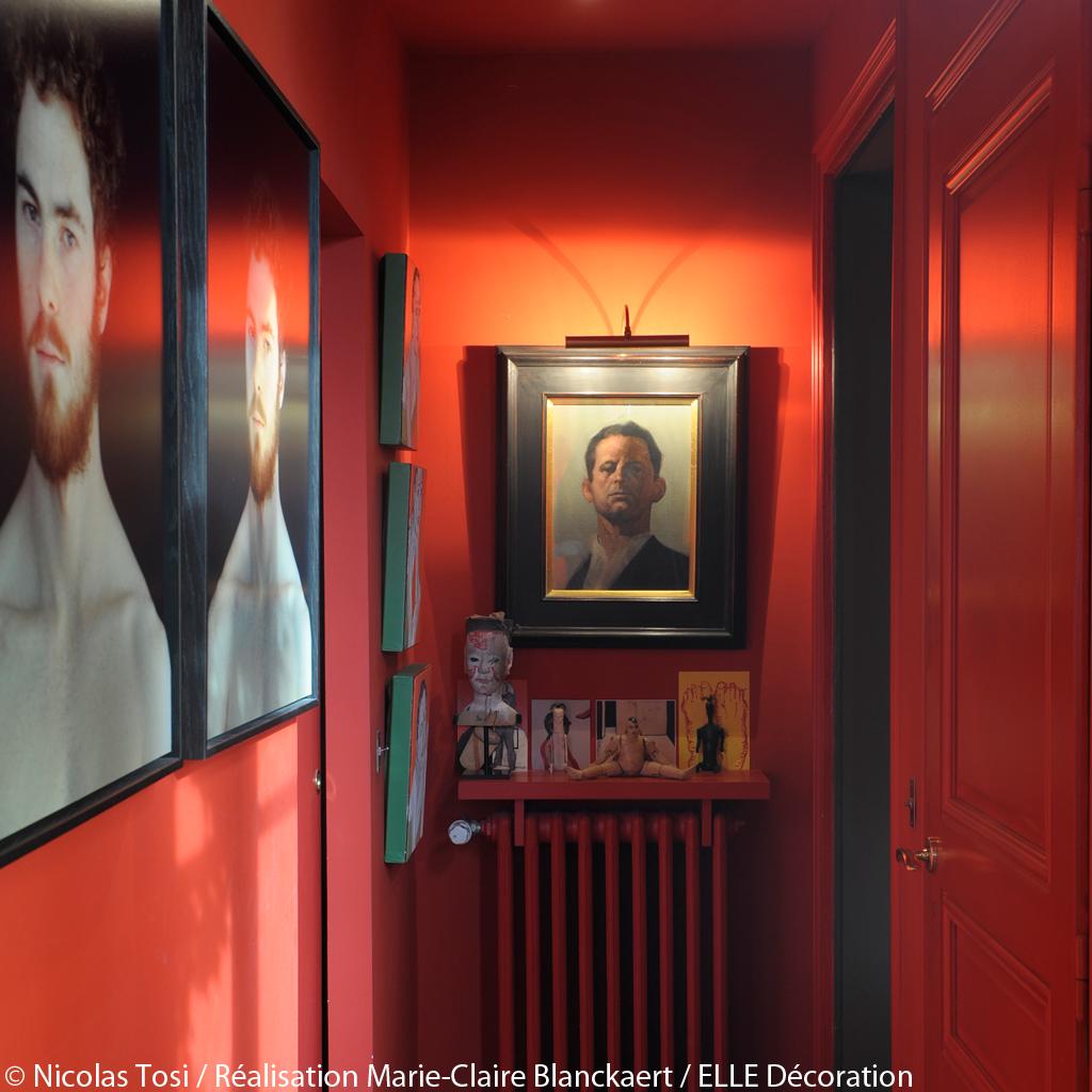 inspiration rouge nos images et adresses pr f r es elle d coration. Black Bedroom Furniture Sets. Home Design Ideas