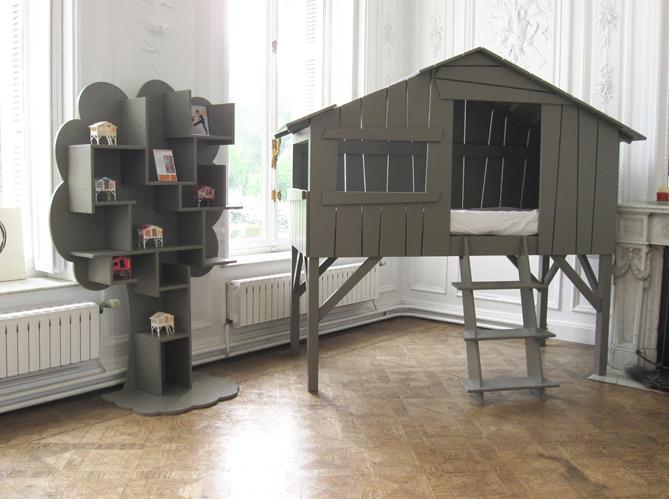 Cr er une cabane dans une chambre d 39 enfant elle d coration - Lit enfant delamaison ...