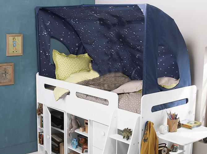 cr er une cabane dans une chambre d 39 enfant elle d coration. Black Bedroom Furniture Sets. Home Design Ideas