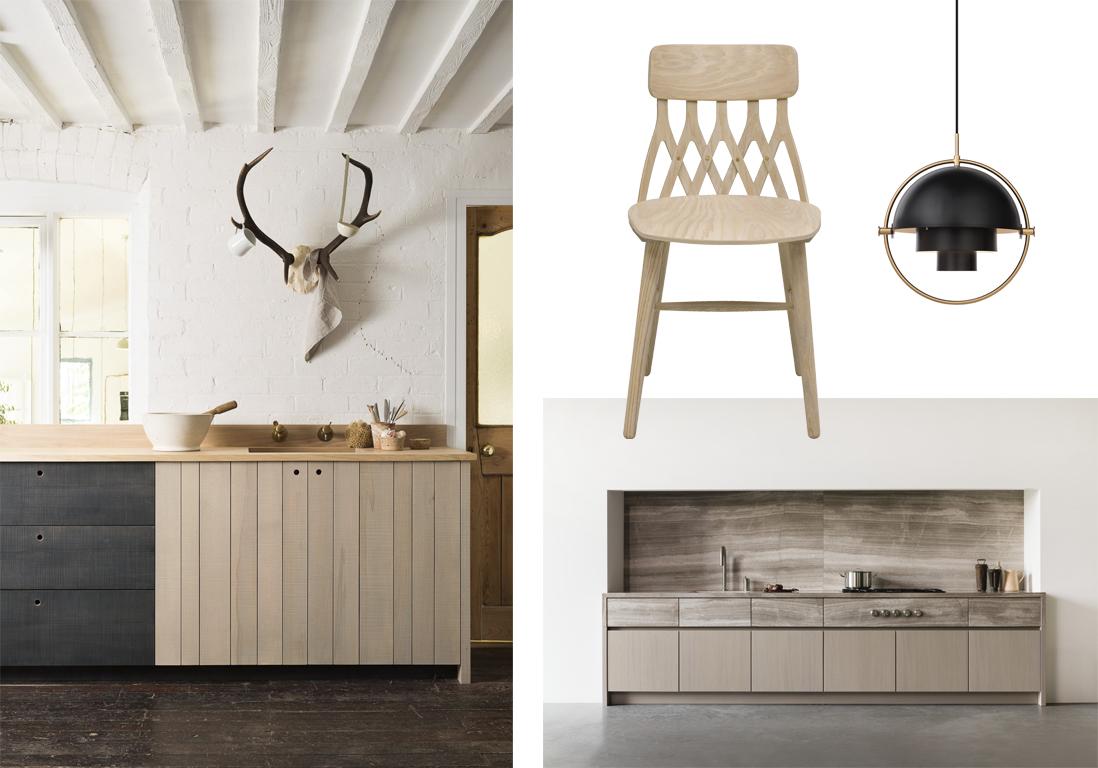 cuisine bois contemporaine. Black Bedroom Furniture Sets. Home Design Ideas