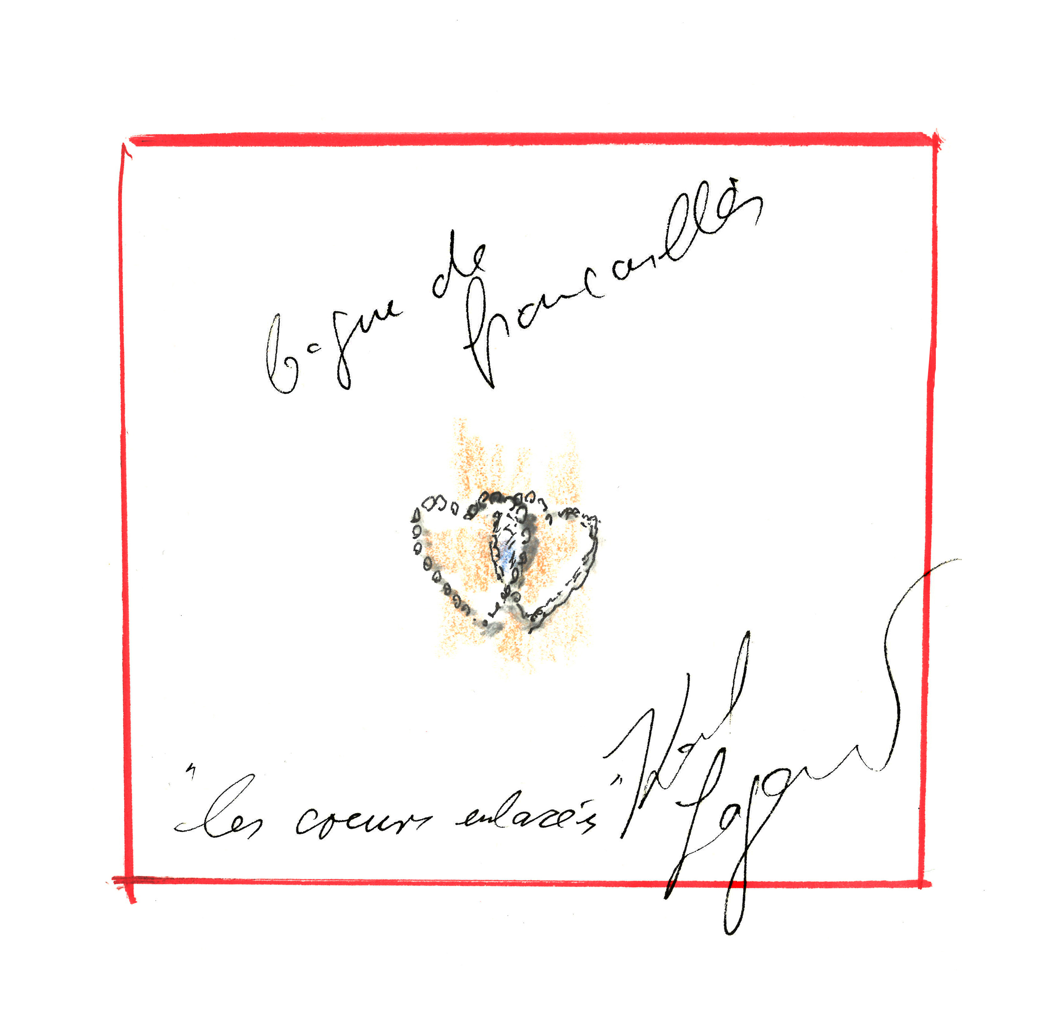 Dessin bague Fiancailles by Karl Lagerfeld