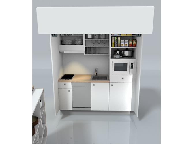 Dr les de concepts pour petites cuisines elle d coration - Cuisine dans un placard ...