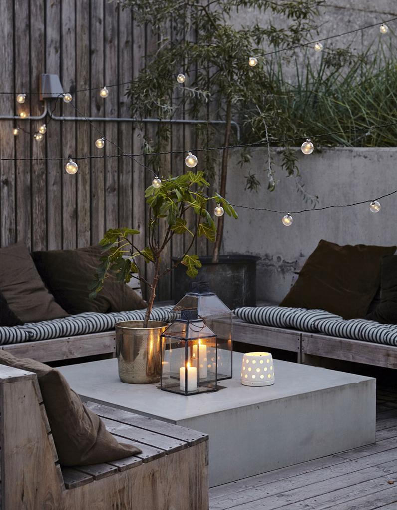 éclairage terrasse