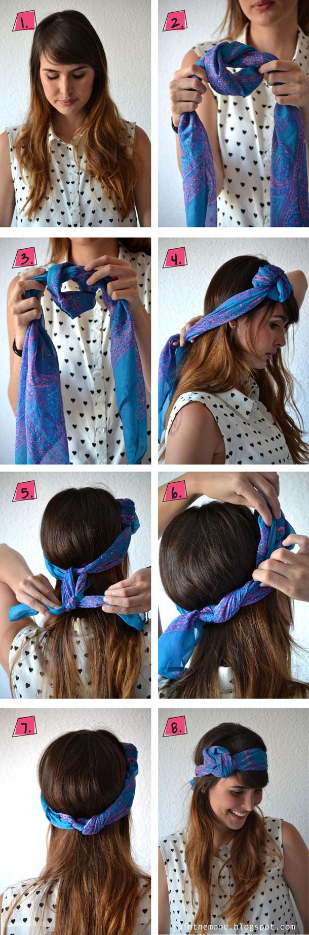 Nouer un foulard dans ses cheveux comment nouer un foulard dans ses cheveux avec style elle - Foulard pour cheveux tendance ...