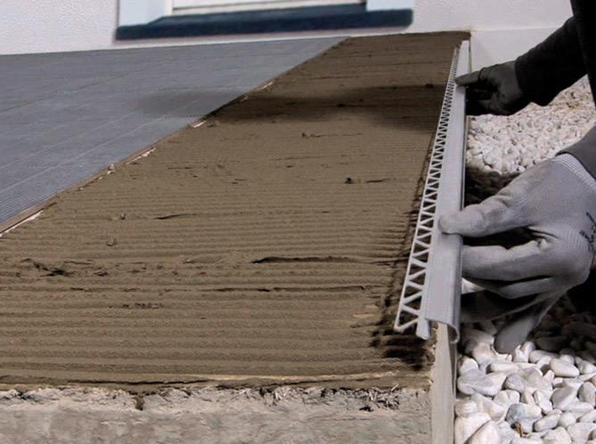 Profilé de finition carrelage terrasse - Tendance déco tuiles céramiques