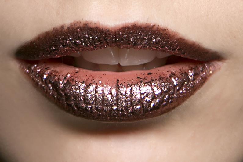 glitter lips du défilé Rodarte