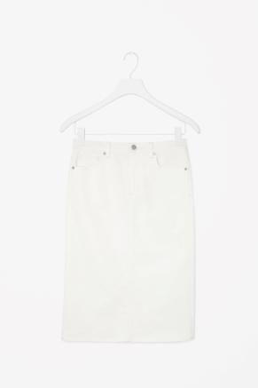 Jupe blanche en jean COS