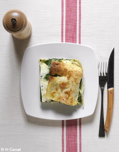 Lasagnes chevre epinards