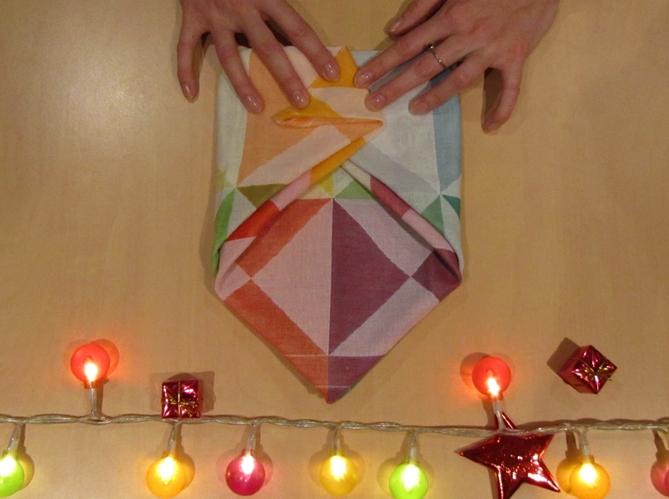 Le plus poetique plier sa serviette comme une enveloppe image
