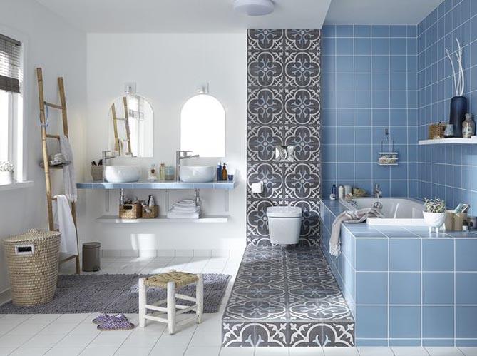 Les 5 bonnes id es de cette salle de bains elle d coration for Idee deco sdb carrelage