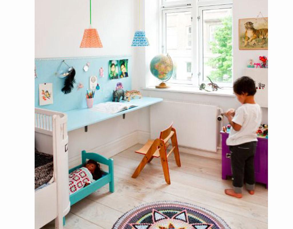Quelles couleurs choisir pour une chambre d 39 enfant elle d coration for Petit bureau de chambre