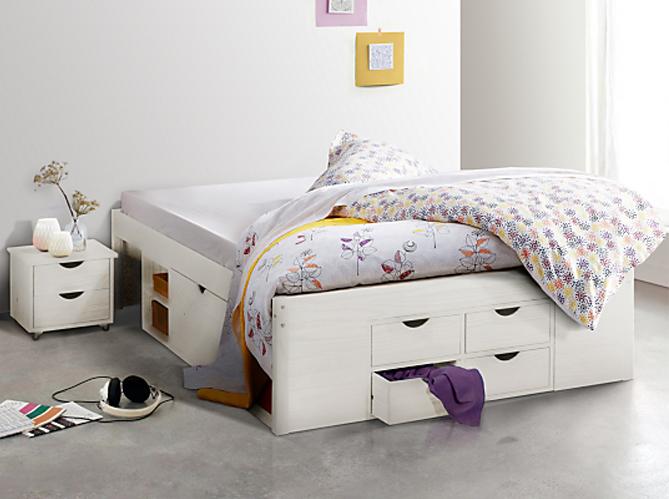 Rangement sous le lit elle d coration - Lit avec rangements integres ...