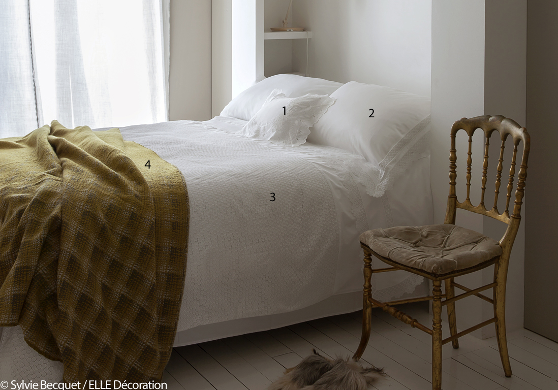 le drap blanc un basique ind modable elle d coration. Black Bedroom Furniture Sets. Home Design Ideas