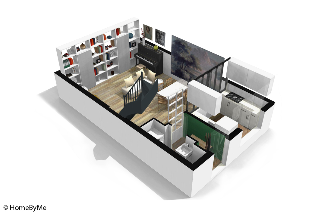 Plan maison 3d elle for Plan en 3d