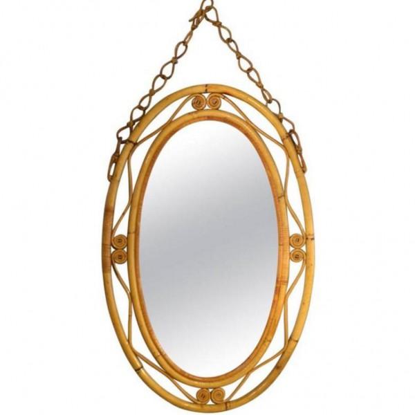 Miroir-en-rotin