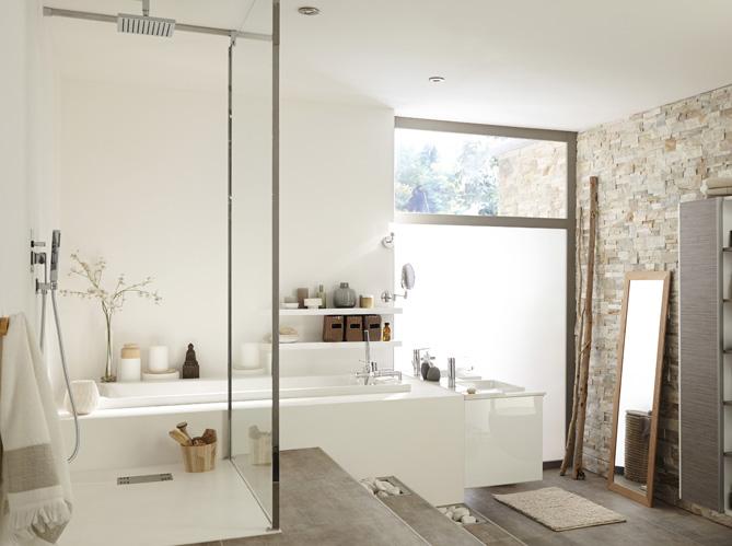 salle de bains pour deux comment bien l organiser elle d coration. Black Bedroom Furniture Sets. Home Design Ideas