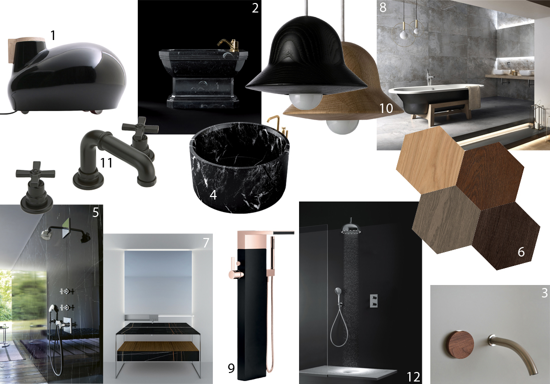 nouveautés salle de bains noir