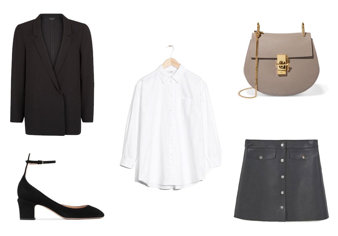 chemise blanche 3 looks pour savoir comment porter la. Black Bedroom Furniture Sets. Home Design Ideas