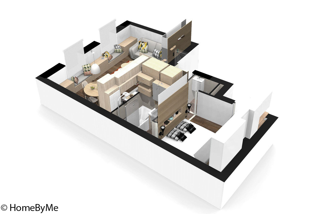 plan appartement 40m2 location
