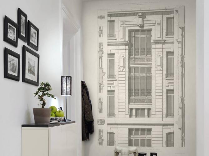 Les petits travaux faire pendant l 39 t elle d coration - Papier peint couloir entree ...